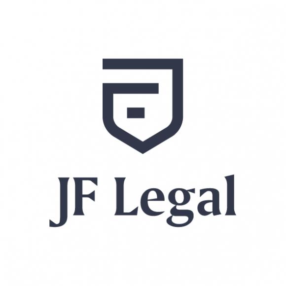 Logo JF Legal w prestiżowym zestawieniu Modern Heraldry BIZNES, Prawo - Identyfikacja wizualna firmy to niezwykle ważny element służący kreowaniu wizerunku marki firmy.